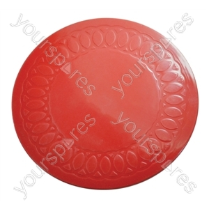 Tenura Silicone Rubber Anti Slip Circular Mat/Coaster 19 cm - Colour Red