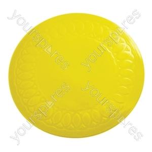 Tenura Silicone Rubber Anti Slip Circular Mat/Coaster 19 cm - Colour Yellow