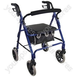 Aidapt Lightweight 4 Wheeled Rollator - Colour Blue