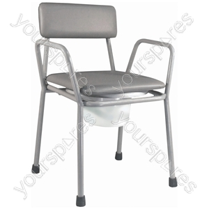 Kent Stacking Commode Chair - Colour Grey