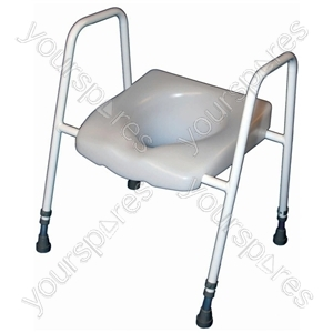 President Raised Toilet Seat and Frame - Configuration Standard: Adjustable Height