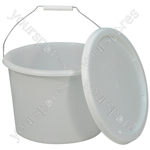 Commode Bucket and Lid for Norfolk Commode Chair - Capacity (litres) 10