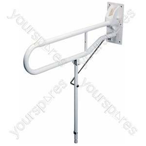Solo Hinged Arm with Back Plate and Leg - Length (Extended) (mm) 650