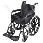 Deluxe Self Propelled Steel Wheelchair - Colour Hammered Effect