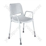 Milton Stackable Portable Shower Chair - Configuration Adjustable Height