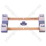 """Adjustable Height and Width Linked Bed Raiser - Size Width: 914 mm (36"""") to 1460 mm (57 1/2"""")"""