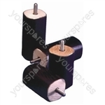 Set of 4 Screw Fixing Bed Raisers - Size Height: 100 mm
