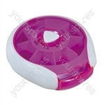 Compact Weekday Pill Dispenser - Colour Pink