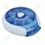 Compact Weekday Pill Dispenser - Colour Blue