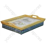 Wooden Lap Tray with Cushion - Design Herb Garden