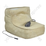 Aidapt Electric Dual Speed Soft Massaging Foot Boot with Heat - Colour Beige