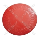 Tenura Silicone Rubber Anti Slip Circular Mat/Coaster 14 cm - Colour Red
