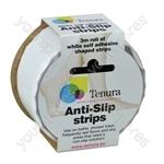 Tenura Aqua Safe Anti Slip Bath and Shower Strips - Colour White