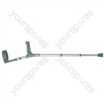 PVC Wedge handle Elbow Crutch - Size Medium