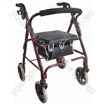Aidapt Lightweight 4 Wheeled Rollator - Colour Red