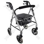 Aidapt Lightweight 4 Wheeled Rollator - Colour Silver