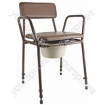 Essex Height Adjustable Commode Chair - Colour Brown