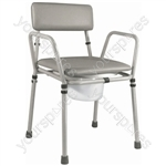 Essex Height Adjustable Commode Chair - Colour Grey