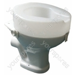 "Ashby Raised Toilet Seat - Size Seat Height: 100 mm (4"")"