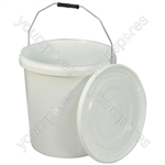 Commode Bucket and Lid for Norfolk Commode Chair - Capacity (litres) 20