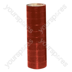 Red 19 mm x 30 m High Quality PVC Tape (Pack of 10)