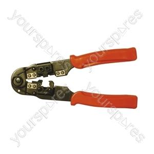 RJ45 Modular Crimping Tool For RJ45 Modular Plugs.  Blister