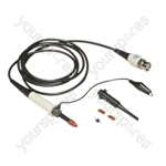 Black 1.5 m DC 100 MHz Oscilloscope Probe with Hook Clip and Cable Ident