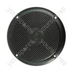 """4"""" Black 100V Line Waterproof Ceiling speaker 6W"""