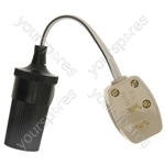Adapt-It Cigar Socket To Clipsal Type 2-Pin Plug Adaptor