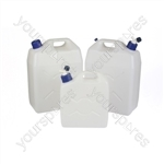 Jerry Can (Screw Cap & Tap) - Translucent - 25 Litre