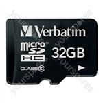 Verbatim Micro SDHC Card - 32GB