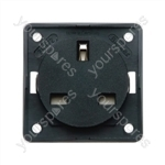 Berker Socket - 13A - Black