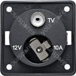 12V Auxiliary Socket/TV Point - Anthracite