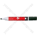 Dry Wipe Marker Pens - Black - Pack of 12