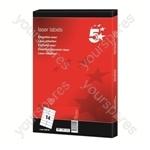 Laser Address Labels - 64 x 38mm - Pack of 2100