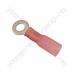 Wiring Connectors - Red - 4.0mm Heat Shrink Ring - Pack Of 25