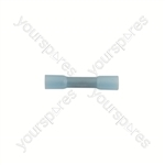 Wiring Connectors - Blue - Heat Shrink Butt - 5mm - Pack Of 100