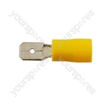 Wiring Connectors - Yellow - Male Blade - 6.3mm - Pack Of 100