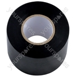 PVC Insulation Tape - Black - 50mm x 20m - Pack Of 5