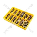 Box of Assorted Clic Type Re-usable Hose Clips