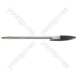 Cristal Ball Point Pens - Black - Pack of 50