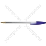 Cristal Ball Point Pens - Blue - Pack of 50