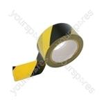Hazard Warning Tape - Yellow & Black - 33m x 50mm