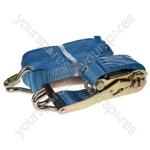 Ratchet Tie Down Strap & Hooks - 8m x 50mm