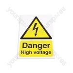 Safety Sign - Danger High Voltage - 300 x 210mm