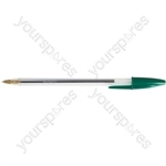 Cristal Ball Point Pens - Green - Pack of 50