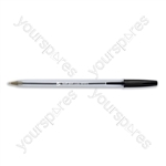 Clear Ball Point Pens - Black - Pack of 50