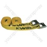 Kwiklok Tie Down Straps with Cam Buckle - 2.5m - Pack of 2