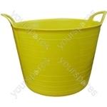 Heavy Duty Flexi Tub - Yellow - 40 Litre