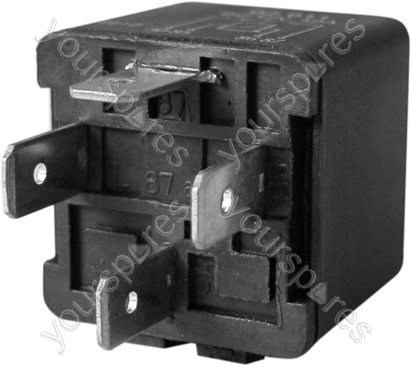 Relay - 12V - 30A - 4-Pin - Open (Type A) by High Tech Parts